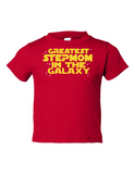 Greatest Stepmom In The Galaxy Funny Toddler Tee Red 2T
