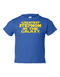 Greatest Stepmom In The Galaxy Funny Toddler Tee Royal 2T