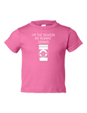Im The Reason My Mommy Drinks Funny Toddler Tee Pink 2T