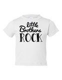 Little Brothers Rock Funny Toddler Tee White 2T