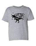 Little But Loud Boy Funny Toddler Tee Gray 2T