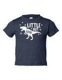 Little But Loud Boy Funny Toddler Tee Navy 2T