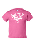 Little But Loud Boy Funny Toddler Tee Pink 2T