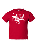 Little But Loud Boy Funny Toddler Tee Red 2T