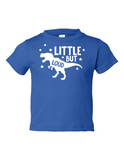 Little But Loud Boy Funny Toddler Tee Royal 2T