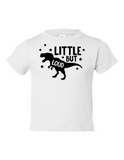 Little But Loud Boy Funny Toddler Tee White 2T