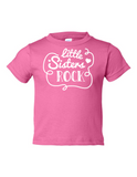 Little Sisters Rock Funny Toddler Tee Pink 2T