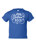 Little Sisters Rock Funny Toddler Tee Royal 2T