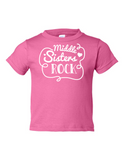 Middle Sisters Rock Funny Toddler Tee Pink 2T