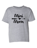 Mini Mom Funny Toddler Tee Gray 2T