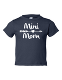 Mini Mom Funny Toddler Tee Navy 2T