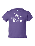 Mini Mom Funny Toddler Tee Purple 2T