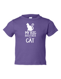 My Big Brother is a Cat Funny Toddler Tee