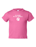 My Mommy Rescues Animals Funny Toddler Tee Pink 2T