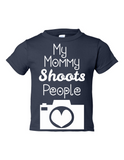My Mommy Shoots People Funny Toddler Tee Navy 2T