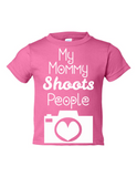 My Mommy Shoots People Funny Toddler Tee Pink 2T