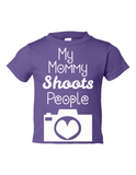 My Mommy Shoots People Funny Toddler Tee Purple 2T