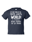 My Uncle Cutest Baby Opinion Funny Toddler Tee Navy 2T