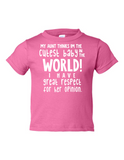 My Uncle Cutest Baby Opinion Funny Toddler Tee Pink 2T