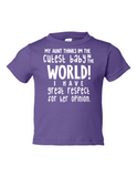My Uncle Cutest Baby Opinion Funny Toddler Tee Purple 2T