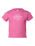 Only My Grandpa Understands Me Funny Toddler Tee Pink 2T