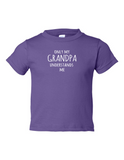 Only My Grandpa Understands Me Funny Toddler Tee Purple 2T