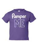 Pamper Me Funny Toddler Tee Purple 2T