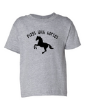 Play With Horses Funny Toddler Tee Gray 2T