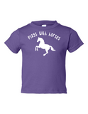 Play With Horses Funny Toddler Tee Purple 2T