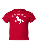 Play With Horses Funny Toddler Tee Red 2T