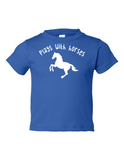 Play With Horses Funny Toddler Tee Royal 2T