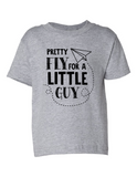 Pretty Fly For A Little Guy Funny Toddler Tee Gray 2T
