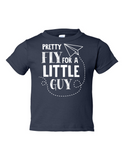Pretty Fly For A Little Guy Funny Toddler Tee Navy 2T