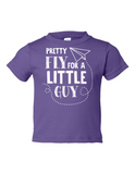 Pretty Fly For A Little Guy Funny Toddler Tee Purple 2T
