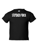 Stepdads Rock Funny Toddler Tee Black 2T