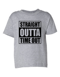 Straight Outta Time Out Funny Toddler Tee Gray 2T