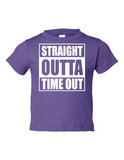 Straight Outta Time Out Funny Toddler Tee Purple 2T
