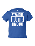 Straight Outta Time Out Funny Toddler Tee Royal 2T