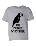 The Parrot Whisperer Funny Toddler Tee Gray 2T