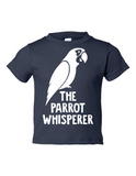 The Parrot Whisperer Funny Toddler Tee Navy 2T