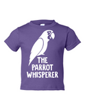 The Parrot Whisperer Funny Toddler Tee Purple 2T