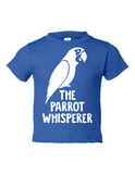 The Parrot Whisperer Funny Toddler Tee Royal 2T