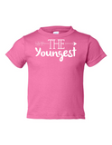 The Youngest Funny Toddler Tee Pink 2T