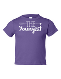 The Youngest Funny Toddler Tee Purple 2T
