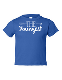The Youngest Funny Toddler Tee Royal 2T