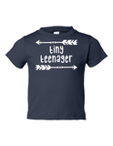 Tiny Teenager Funny Toddler Tee Navy 2T