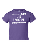 Tiny Teenager Funny Toddler Tee Purple 2T
