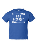 Tiny Teenager Funny Toddler Tee Royal 2T