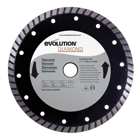 Evolution Power Tools 185mm Diamond Masonry Blade