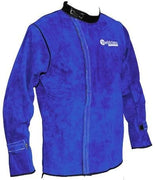 Weldclass Welding Gear L - Large Promax Blue Leather Welding Jacket